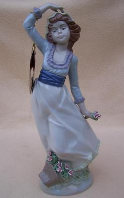 Nadal Spanish Large Girl With Roses Flowers Figurine