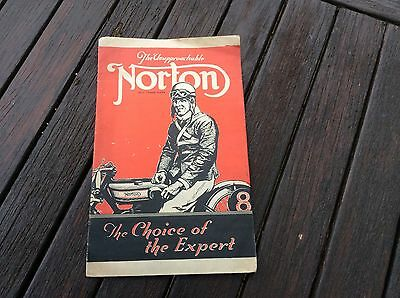 NORTON MOTORCYCLES FOLD OUT BROCHURE from 1927.