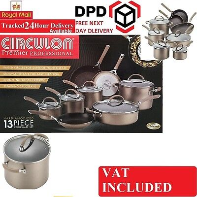 Circulon Premier Professional Hard Anodized 13 Piece Non Stick Cookware Pan Set