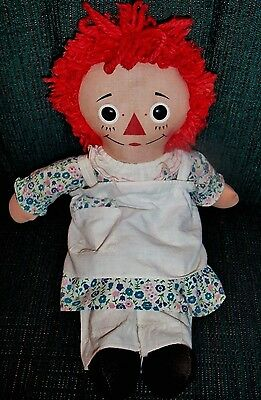 "Vintage 15"" RAGGEDY ANN Doll KNICKERBOCKER 60'S FREE SHIPPING! LOVELY!!"