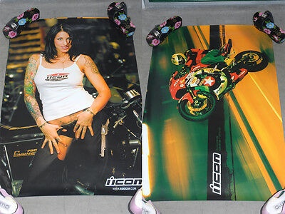 """New Icon Motorcycle Posters Limiter Hellbent 24"""" X 36"""""""