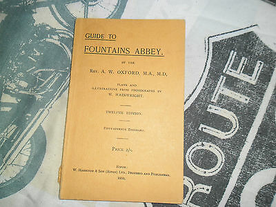 GUIDE TO FOUNTANS ABBEY booklet 1950 local history