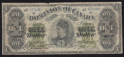 1878 Dominion of Canada $1 Banknote - Cat# DC-8e-i