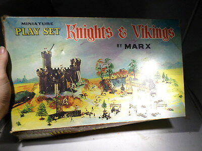 MARX BOXED Knights and Vikings HO Scale Playset