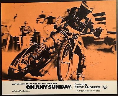 On Any Sunday 1971 Original UK Front of House Set Steve McQueen Motor Cycles