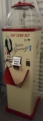 "RARE Vintage 1940's POPCORN 10 cent TC-10 ""Pop"" Corn Sez antique vending machine"