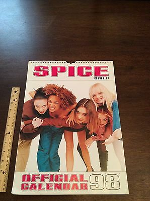 Huge Rare Spice Girls 1998 Calendar Vintage Ginger Sporty Posh Baby Scary