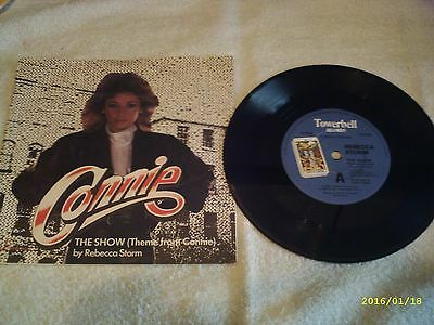 """Connie - The Show ( Theme From ) By Rebecca Storm - 7"""" Vinyl Single Record (80s)"""