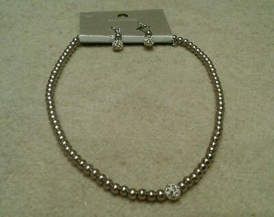 Allusions faux pearl neclace and earrings set