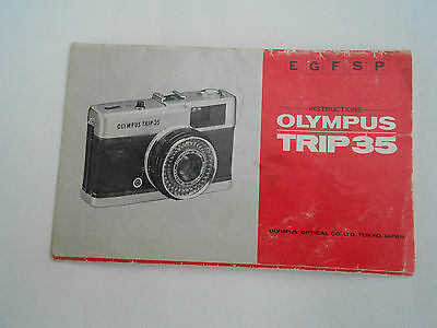 Olympus Trip 35 Instruction Manual Booklet