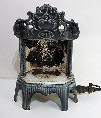 Antique Art Nouveau Welsbach Kern Cast Iron Radiator Enameled Gas Heater Fire