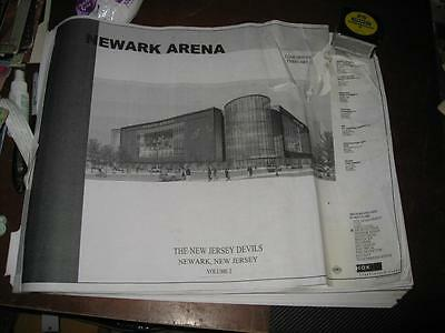 New Jersey Devils Newark Arena Original Architectural Blueprints 2007 150+ Pages