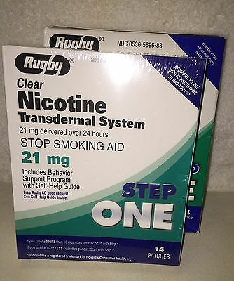 PERSCRIPTION STRENGTH NICOTINE 21mg - Transdermal Patches - 2 BOXES -28 Patches