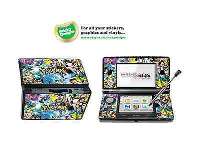 Pokémon Vinyl Skin Sticker for Nintendo 3DS