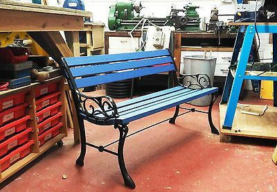 Garden Bench with cast iron sides
