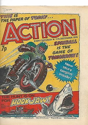 Action Comic : 48 Issues Post Ban. Good/vgc. 1976/1977. Dredger. Hook Jaw.