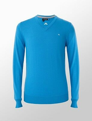 NEW J Lindeberg Lymann Tour Merino MEDIUM Sweater Blue