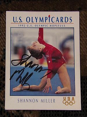 Shanon Miller signed Olympics card gymnast Gold