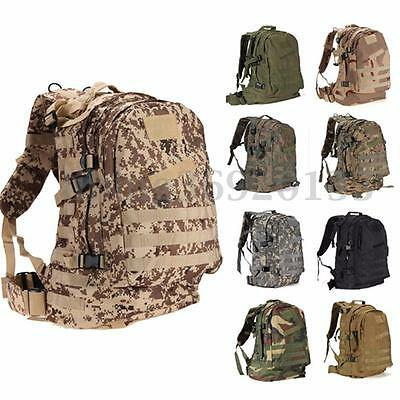 40L 3D Outdoor Tactical Military Backpack Rucksack Trekking Hiking Camping Bags