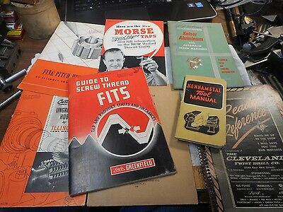 Vintage BOOKS  Machinist Guides CLEVELAND KENNAMETAL MORSE ILLINOIS GREENFIELD