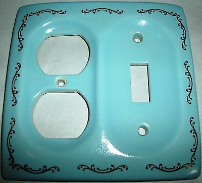 Vintage Porcelain Ceramic Decorative Wall Electric Switch Plate Outlet Cover
