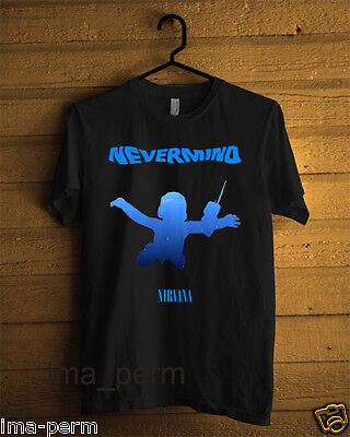 Nirvana Nevermind album cover T-shirt for Man Size S-2XL #