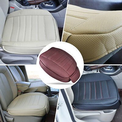 Black Leather Car Front Seat Cover Seatpad fit for VW Audi BMW Benz Honda Buick