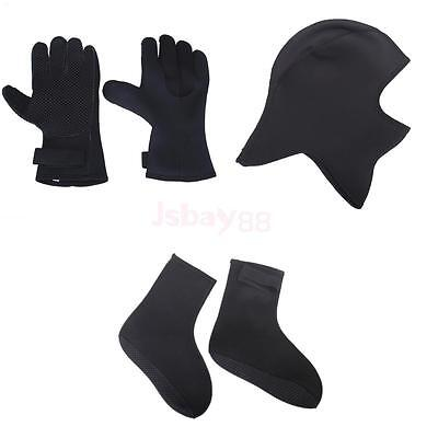 3mm Skid-proof Diving Scuba Surfing Warm Wetsuit Beanie Hood + Gloves +Socks