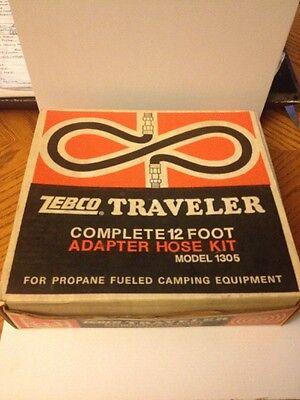 Vintage Zebco Traveler Complete 12ft Adapter Hose Kit Model 1305 Camping Equip