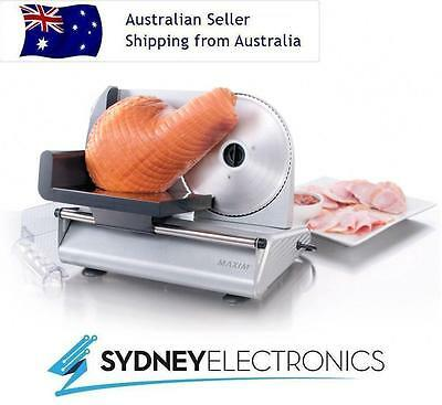 Maxim 200W Watts Deli Style Stainless Steel Blade Electric Food Slicer- MS200