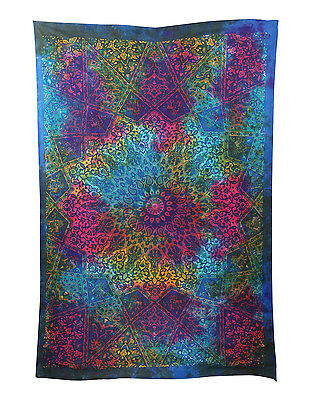 Indian Twin Size Bohemian Tapestry Mandala Throw Hippie Bedspread Wall Hanging1