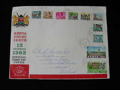 Kenya 1963 Independance Day First Day Cover 10 Stamps