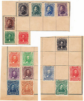 1878-1903 Honduras Mint/unused Collection On Pieces From Old Globe Album - Super