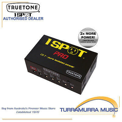 TrueTone 1 Spot CS7 Pro 7 Isolated Outlet Pedal Power Supply Brick PSU 9-18VDC