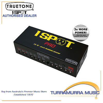 TrueTone 1 Spot CS12 Pro 12 Isolated Outlet Pedal Power Supply Brick PSU 9-18VDC