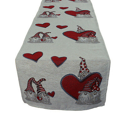 Christmas Santa Claus Tapestry Table Runners Polyester White(16x63inches)