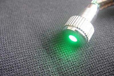 Green Led Indicator Speaker AMPS Power Pilot Dash Light Bulb 8mm Mount 120v-240v