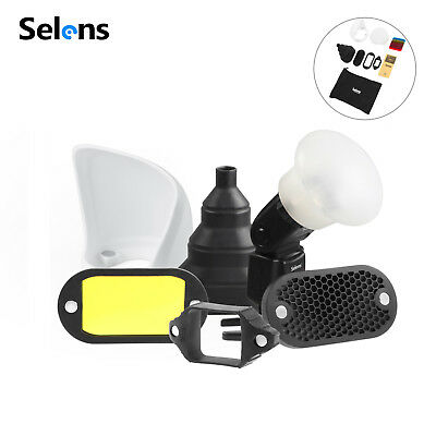Selens Magnetic Honeycomb Grid Sphere Bounce Snoot Diffuser Filter For Flash