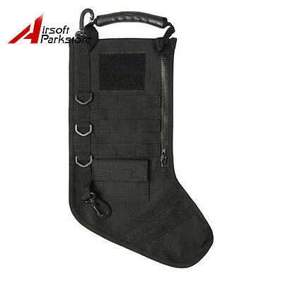 Tactical Christmas Stocking with MOLLE Gear Military Airsoft Black
