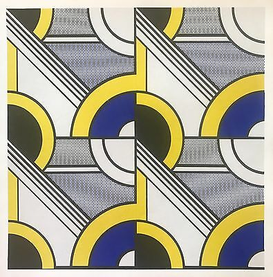 """Roy Lichtenstein Original Lithograph """"Modular Painting With Four Panels, #1"""""""
