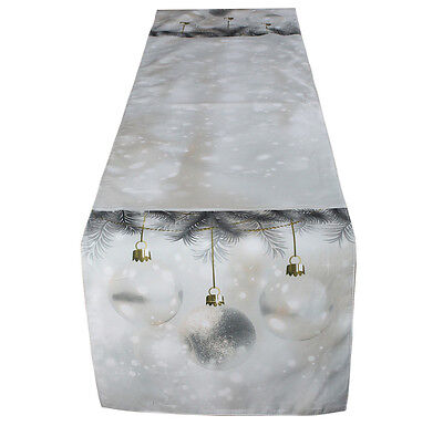 Digital Printing Christmas Ball Table Runners Polyester 13x59inches