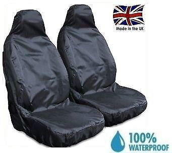 Vw Caddy 2004 Premium Heavy Duty Front Seat Covers Black 1+1