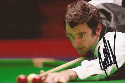 SNOOKER: RONNIE O'SULLIVAN SIGNED 6x4 ACTION PHOTO+COA *THE ROCKET* **PROOF**