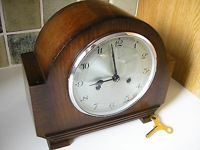 RESTORED 1930's ORIGINAL ENFIELD MANTLE CLOCK