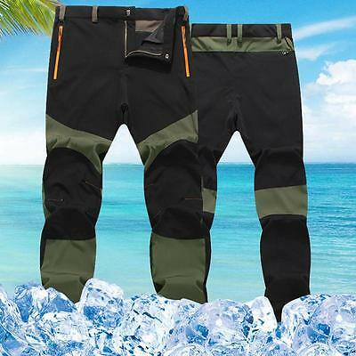 Unique Men's Outdoor Sports Snowboard Pants Waterproof Hiking Trousers Slim New