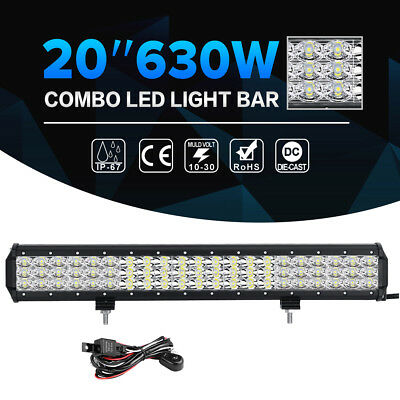 """20inch 315W CREE LED Work Light Bar Tri-row Combo Offroad SUV Truck 4x4WD 22/24"""""""