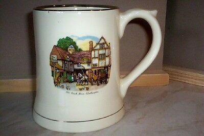 Large Wade  Cream  Tankard  4.5 Inches Tall Red Wade Stamp On Base