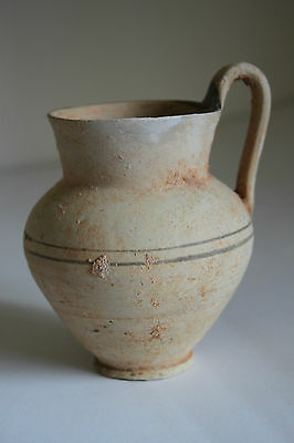 ANCIENT GREEK HELLENISTIC POTTERY UNGLAZED OLPE 3rd CENTURY BC WINE CUP