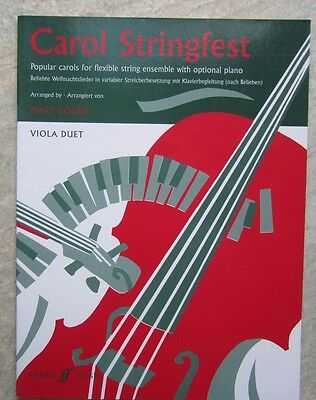 Carol Stringfest VIOLA DUET *NEW* arr Mary Cohen