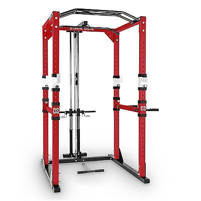 Power Rack Fitness Crosstrain Cross Training Workout Allenamento Trazioni Rosso